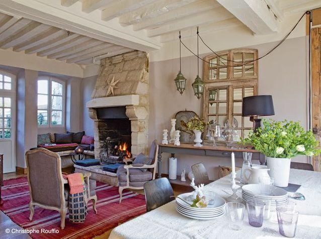 Maison en Normandie  une dco chic et classique  Elle Dcoration