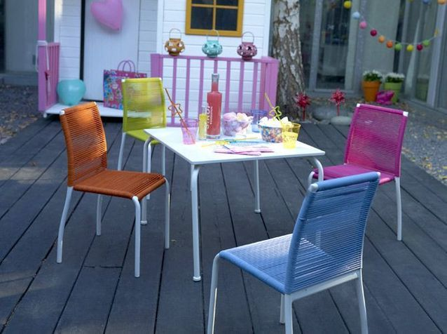 mobilier un jardin d enfant elle