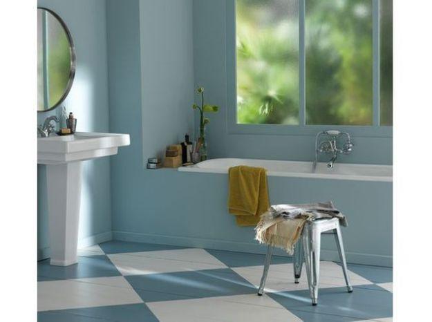 Salle de bains bleue v33