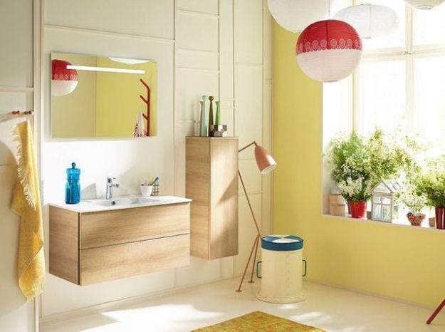 Salle de bains jaune burgbad espace aubade