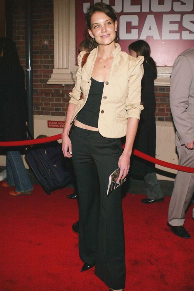 Katie Holmes à New York, en 2005