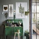une decoration vegetale via des affiches