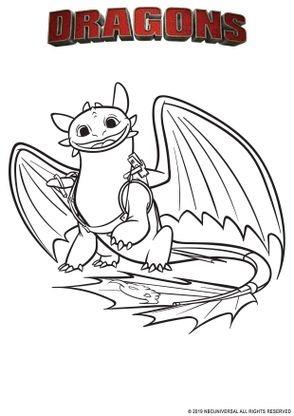 Coloriage Dragon 3 A Imprimer : coloriage, dragon, imprimer, Coloriage, Krokmou, Dragons, Rives, Coloriages, Dessins, Animes