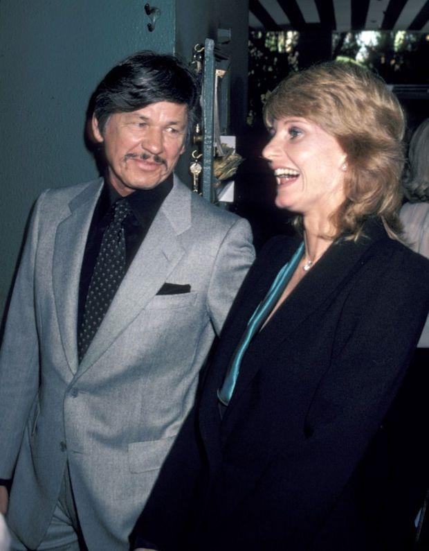 Jill Ireland et Charles Bronson en février 1981 à Beverly Hills.