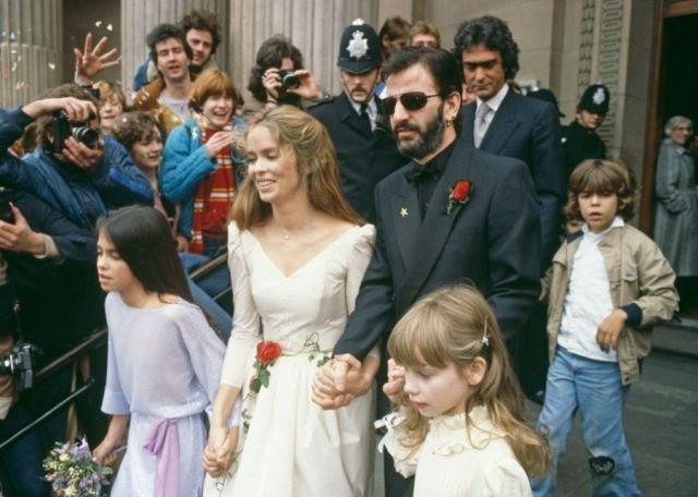 Ringo Starr Barbara Bach Mariage 1981 Photos 14