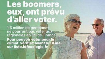 Visuel d'EELV visant les «boomers»: Bayou admet une erreur