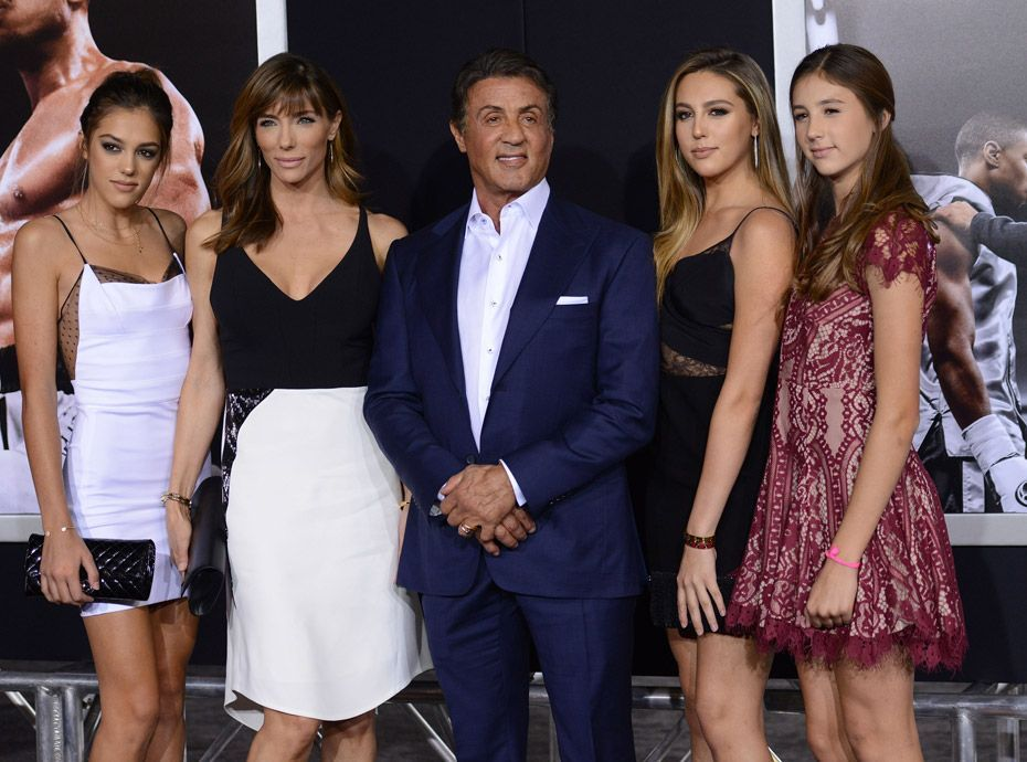 Photos Sylvester Stallone En Famille Avec Ses Bombes