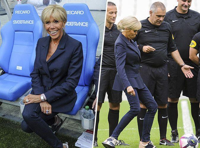 Photos  Brigitte Macron geisha et footballeuse dans la
