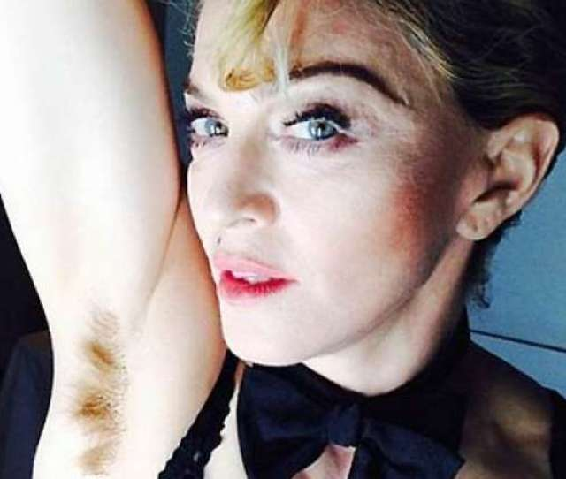 Madonna Goes Outrageous Posts A Hairy Armpit Selfie See Pic
