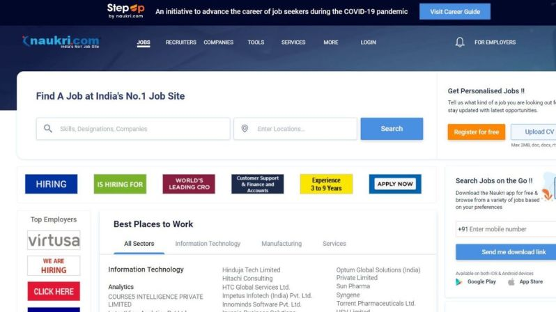 Naukri.com to promote profiles of jobseekers who lost jobs in pandemic    Technology News – India TV  These 10 Sites Would Come In Handy In Your Job Search  [You Should Check Them Out]