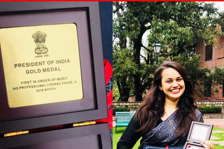 IAS topper Tina Dabi does it again wins gold medal during