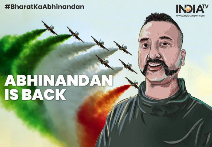 Watch the moment when Wing Commander Abhinandan Varthaman