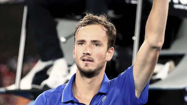 Russia's Daniil Medvedev waves after defeating Australia's