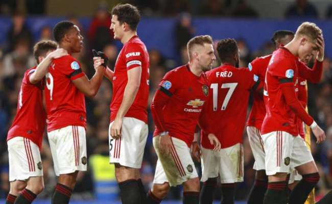 Premier League Manchester United Beat Chelsea 2 0 Throw