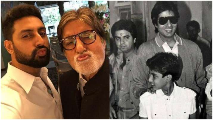 When Abhishek Bachchan shared the stage with dad Amitabh Bachchan in 1981, watch throwback video