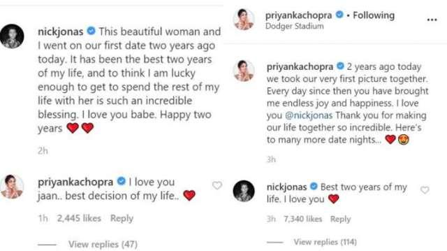 India Tv - Priyanka Chopra, Nick Jonas celebrate 2 years of being together