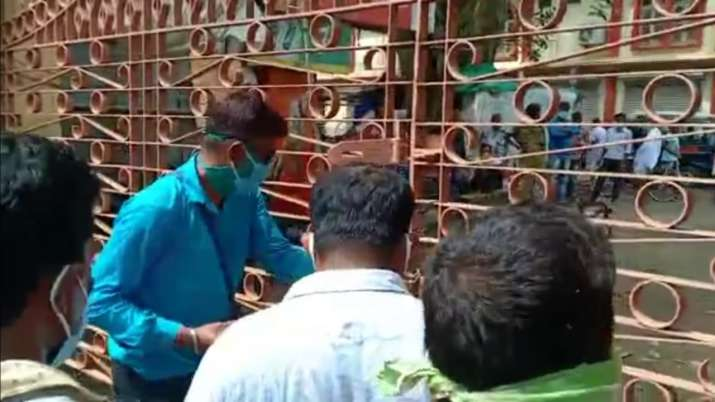 India Tv - Locals ransacking the fences at Pousha Mela ground