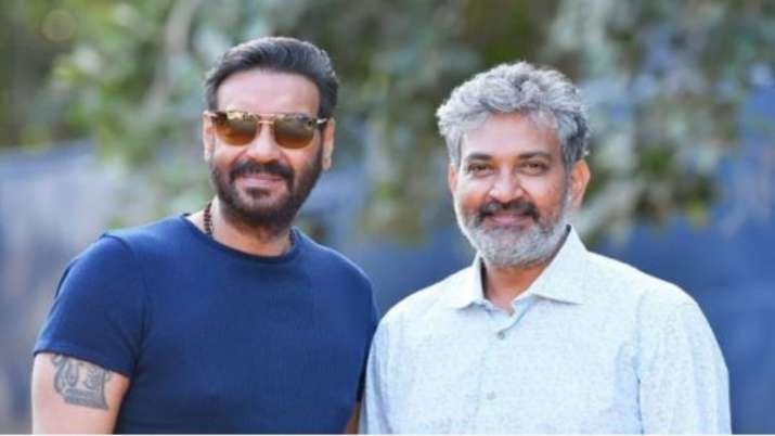 Ajay Devgn shares picture with director SS Rajamouli wishing him on his birthday