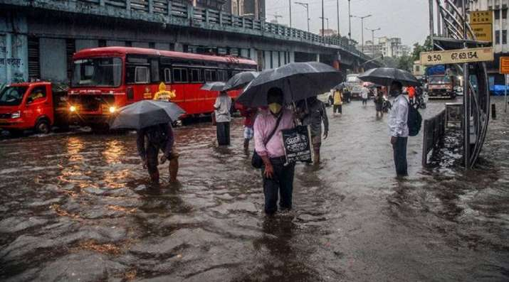 Mumbai Rains: Heavy downpour triggers waterlogging in parts of city, IMD issues red alert