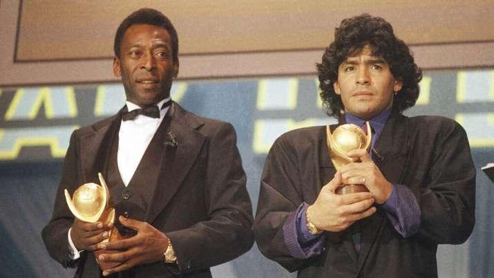 India Tv - Pele and Maradona.