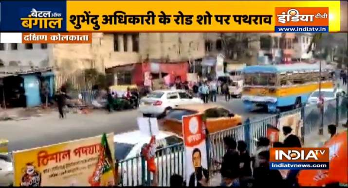 bengal latest news,bengal news,bengal election news,bjp rally, bjp rally stone pelted