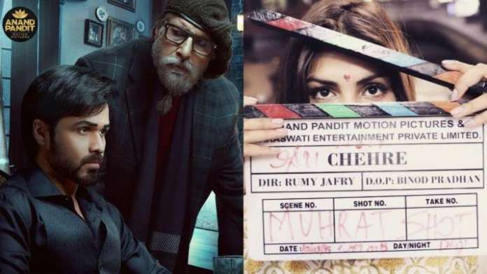 Chehre poster out: amitabh bachchan, emraan hashmi starrer to release on april 30; where is rhea chakraborty?   latest news live   find the all top headlines, breaking news for free online february 23, 2021