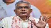 बंगाल भाजपा प्रमुख दिलीप घोष के काफिले पर उत्तर 24 परगना में हमला हुआ