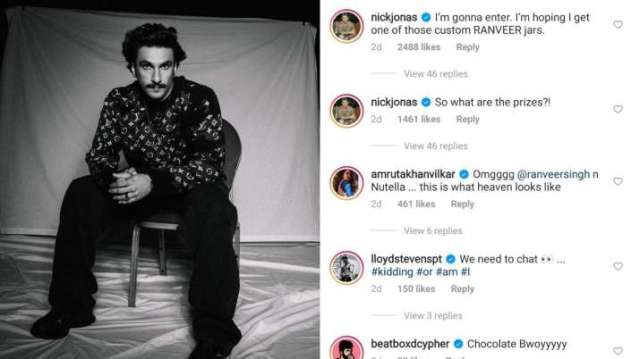 India Tv - Nick Jonas' comments on Ranveer Singh's post leave netizens in a frenzy