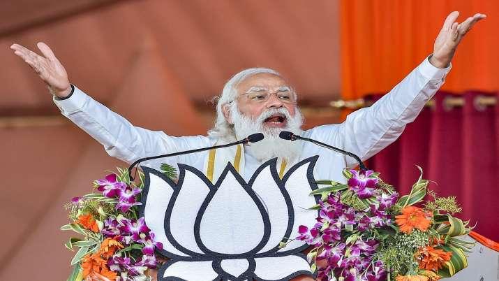 File photo: Prime Minister Narendra Modi addresses a public