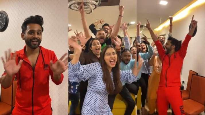 BB14 runner up Rahul Vaidya joins 'pawri ho rhi hai' trend with Disha Parmar | WATCH