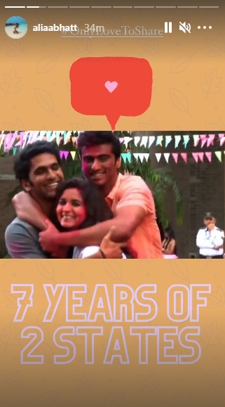 India Tv - 2 states clocks 7 years: Arjun Kapoor, Alia Bhatt reminisce special moments   WATCH