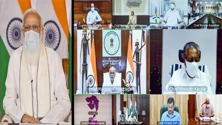 pm modi chides cm kejriwal covid meeting with cms video latest updates   india news – india tv