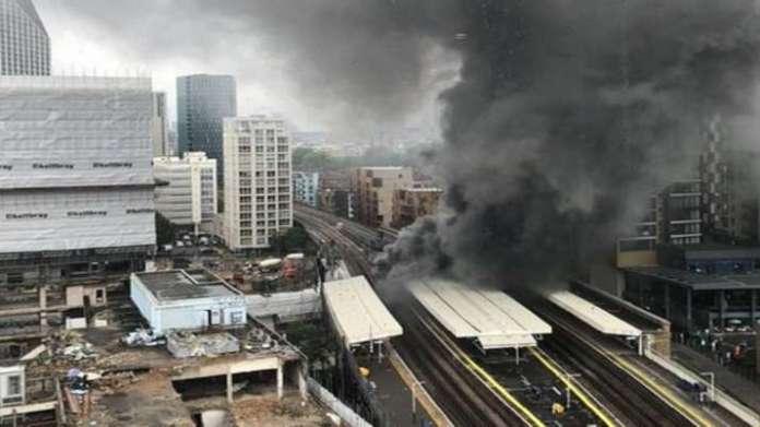 london fire,london rail fire,london Elephant Castle rail station,london news, london latest news,lon