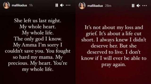 India Tv - Mallika Dua's mother Chinna Dua dies due to Covid19