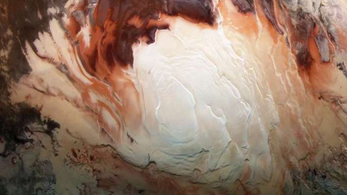 mars, lakes in mars, mars south pole, lakes, lake discovery in mars, red planet, Mars Express orbite