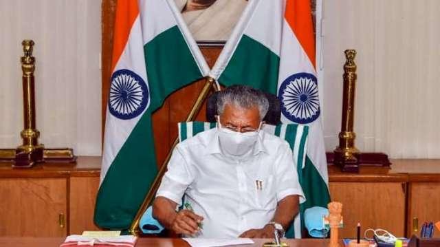 केरल के मुख्यमंत्री पिनाराई विजयन।