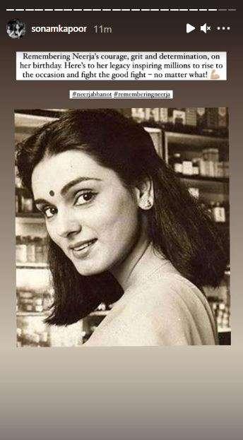 India Tv - Sonam Kapoor remembers Neerja on her birth anniversary
