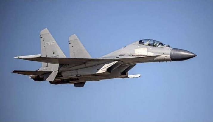 chinese warplanes fly into taiwan