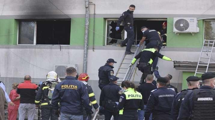 Romanian hospital, Romanian hospital blaze, hospital blaze kills seven, COVID patients, latest inter