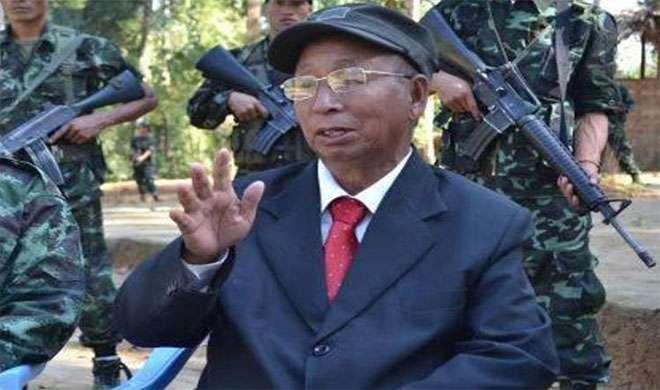 Image result for एनएससीएन-के) के अध्यक्ष एस एस खापलांग