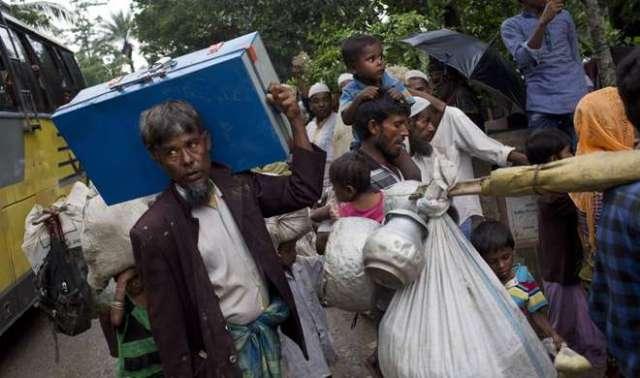 Image result for 87 हजार रोहिंग्या आव्रजक बांग्लादेश पहुंचे : संयुक्त राष्ट्र