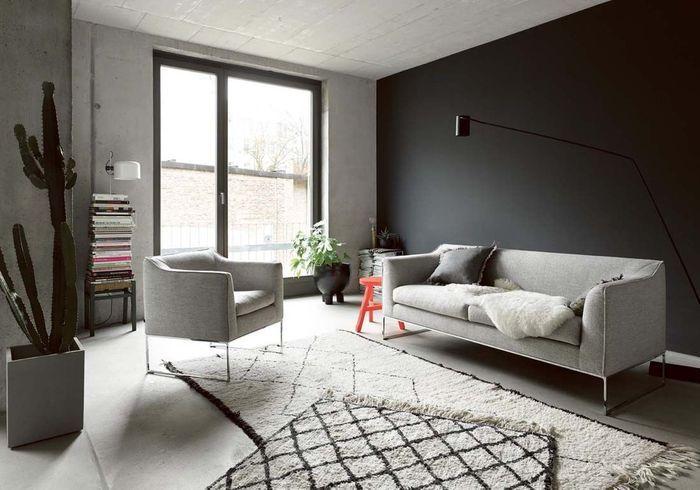 Un salon gris pour une dco chic et intemporelle  Elle Dcoration