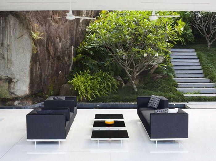 Un salon de jardin design  Elle Dcoration