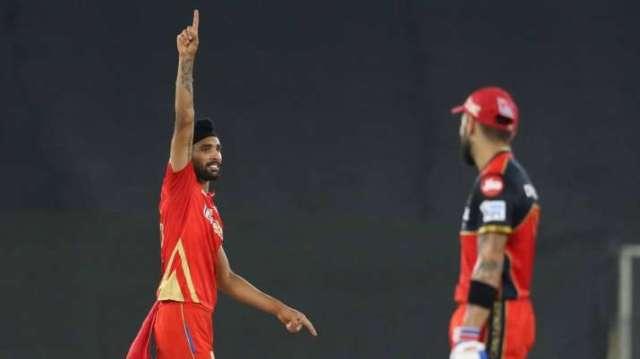 Harpreet Brar after dismissing Virat Kohli, IPL 2021, IPL 2021 PBKS vs RCB