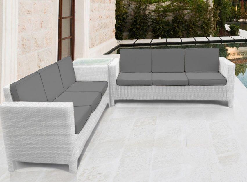 details about white rattan garden furniture corner sofa set outdoor conservatory patio wicker