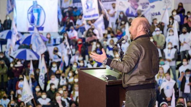 Gildo Insfrán en el lanzamiento de los candidatos a diputados nacionales por el Frente de Todos.