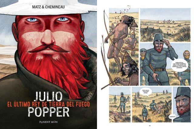 La historia de Julio Popper inspiró numerosas novelas e incluso un cómic publicado en Francia