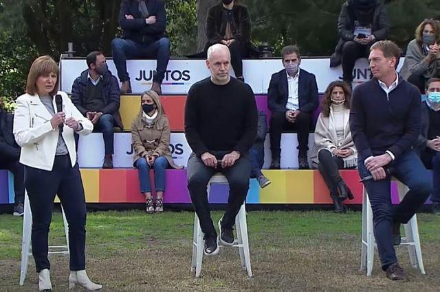 Patricia Bullrich fue una de las oradoras del acto de Diego Santilli en La Plata