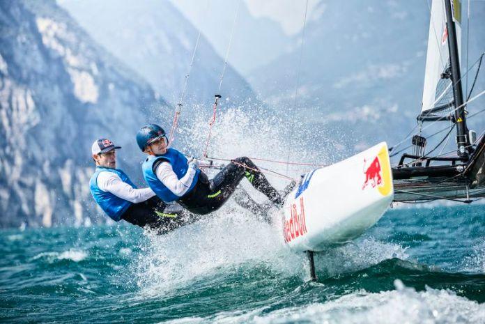Santiago Lange junto con Cecilia Carranza entrenando en Italia rumbo a los Juegos Olímpicos de Tokio