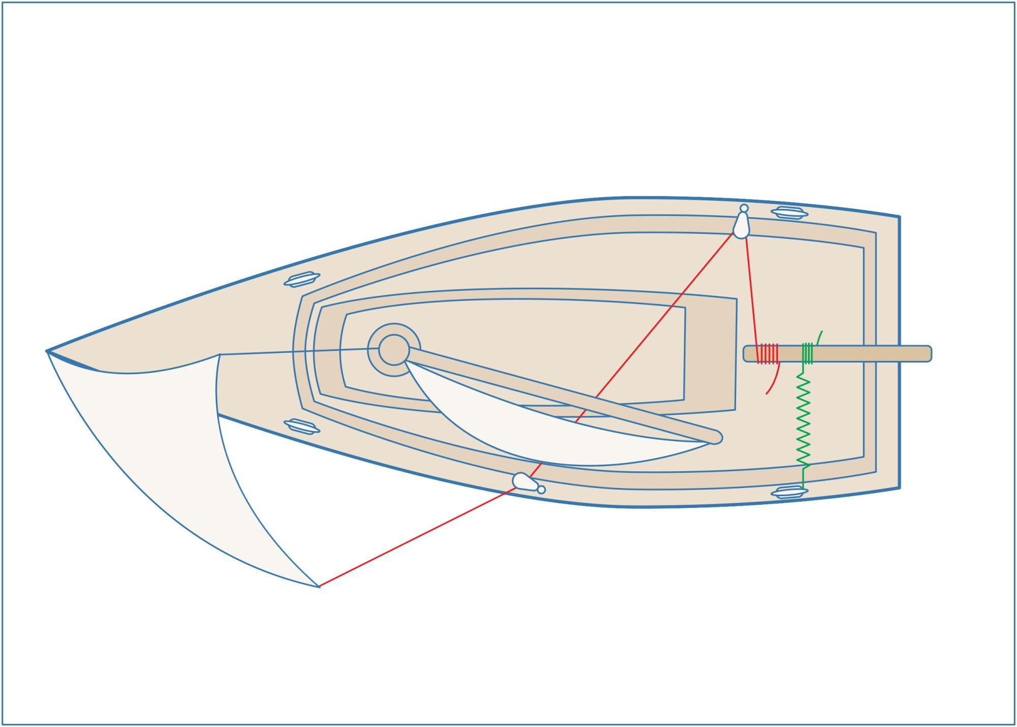 hight resolution of tide water boat construction diagram